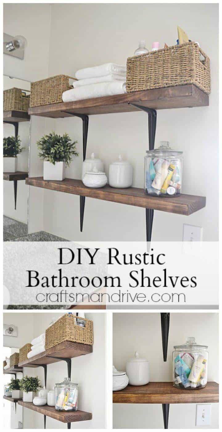 estantes de pared de baño fáciles