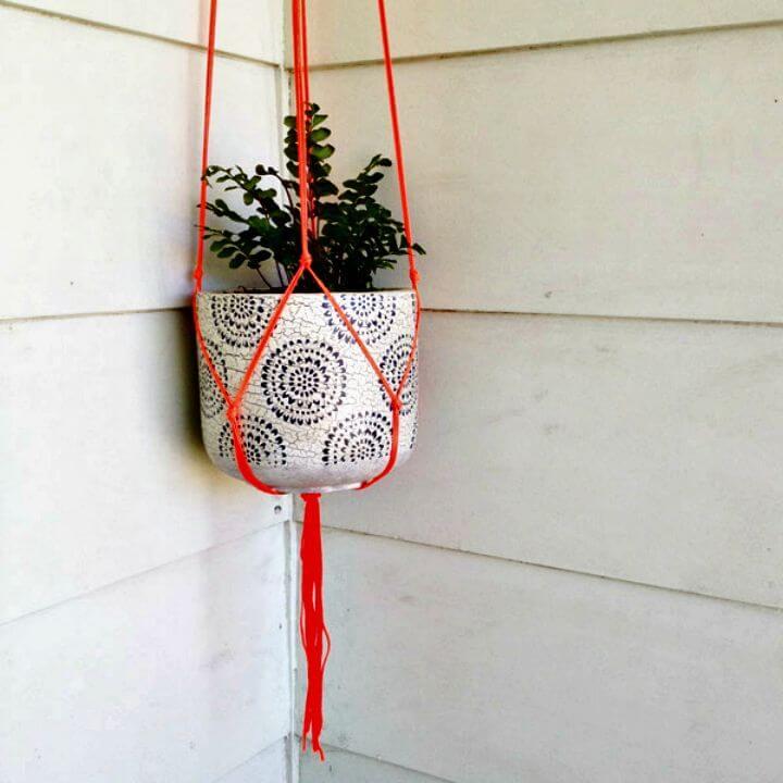 DIY hermoso colgante de maceta de macramé