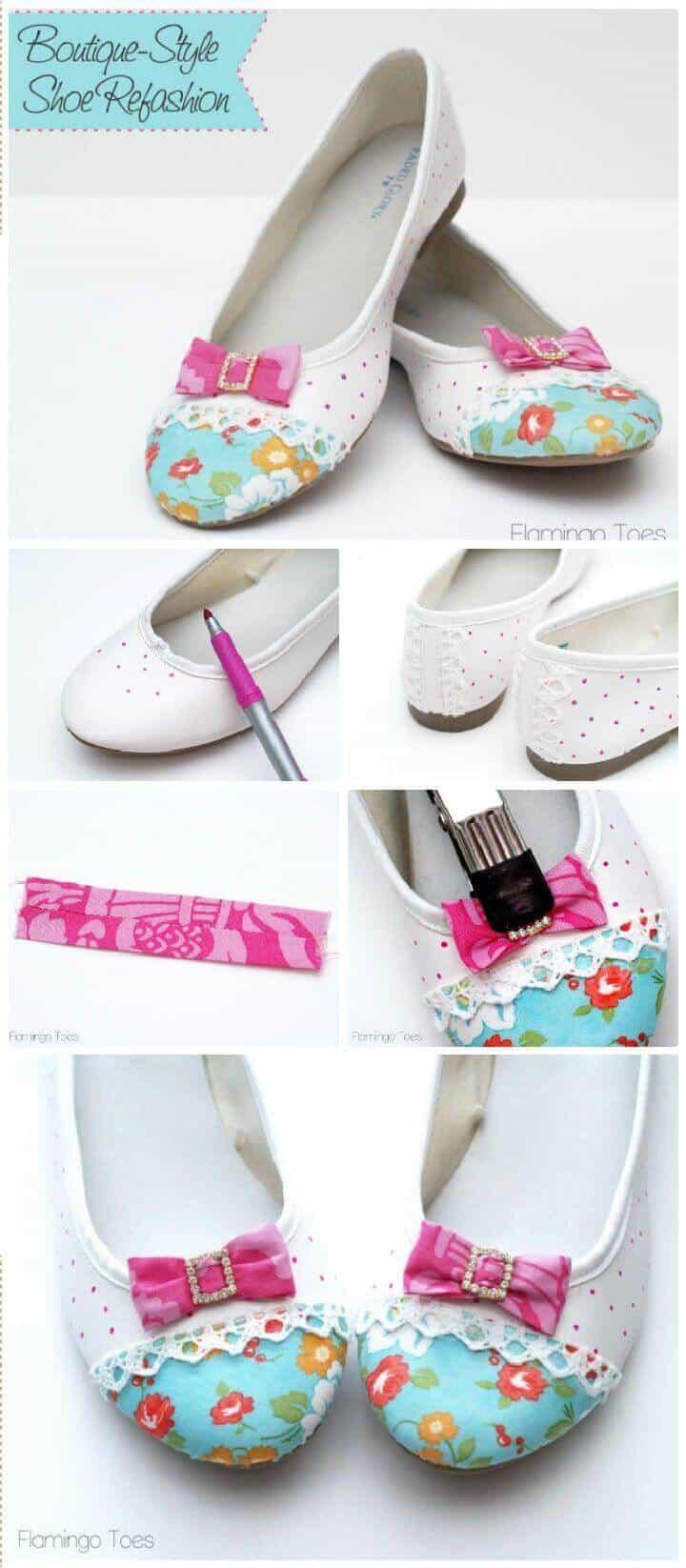 Pisos estilo boutique de bricolaje: remodelación de zapatos
