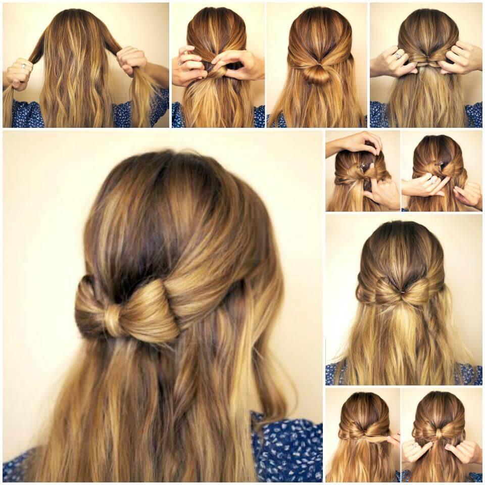 Tutorial de peinado con lazo de bricolaje