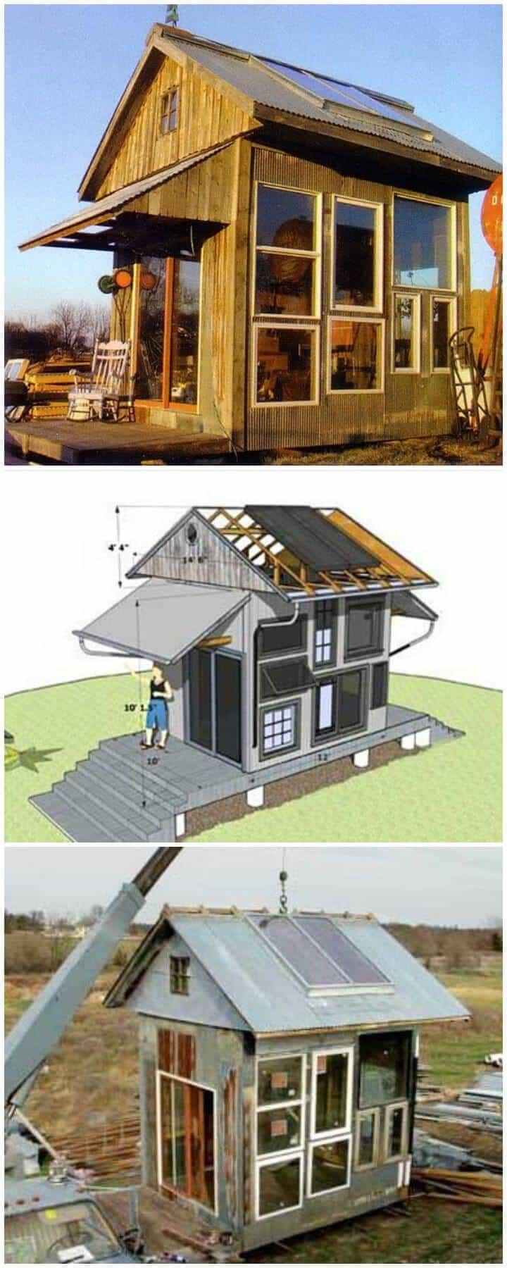 Casa de invitados / invernadero multiusos con calefacción solar y asequible para bricolaje
