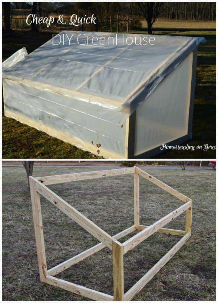 Invernadero de madera de bricolaje económico y fácil de construir