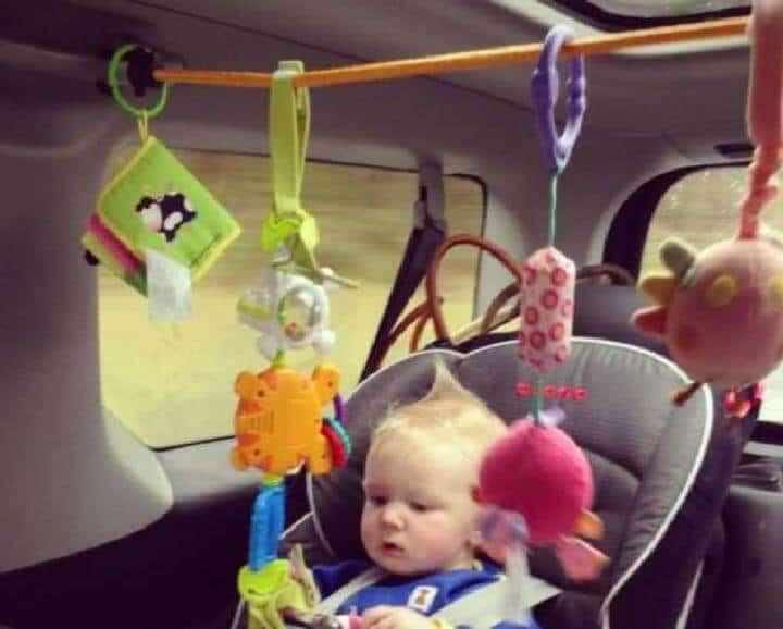 Centro de actividades para bebés con cordón elástico para bebés