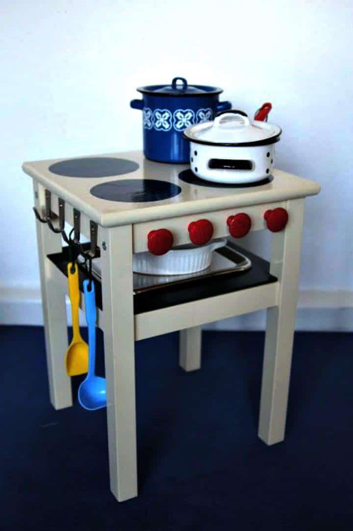Estufa de bricolaje para niños con horno