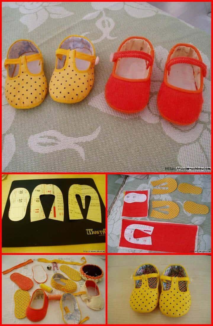 zapatillas infantiles hechas a mano