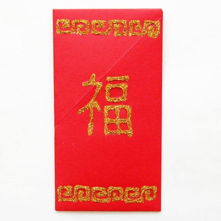 Sobre rojo chino de bricolaje