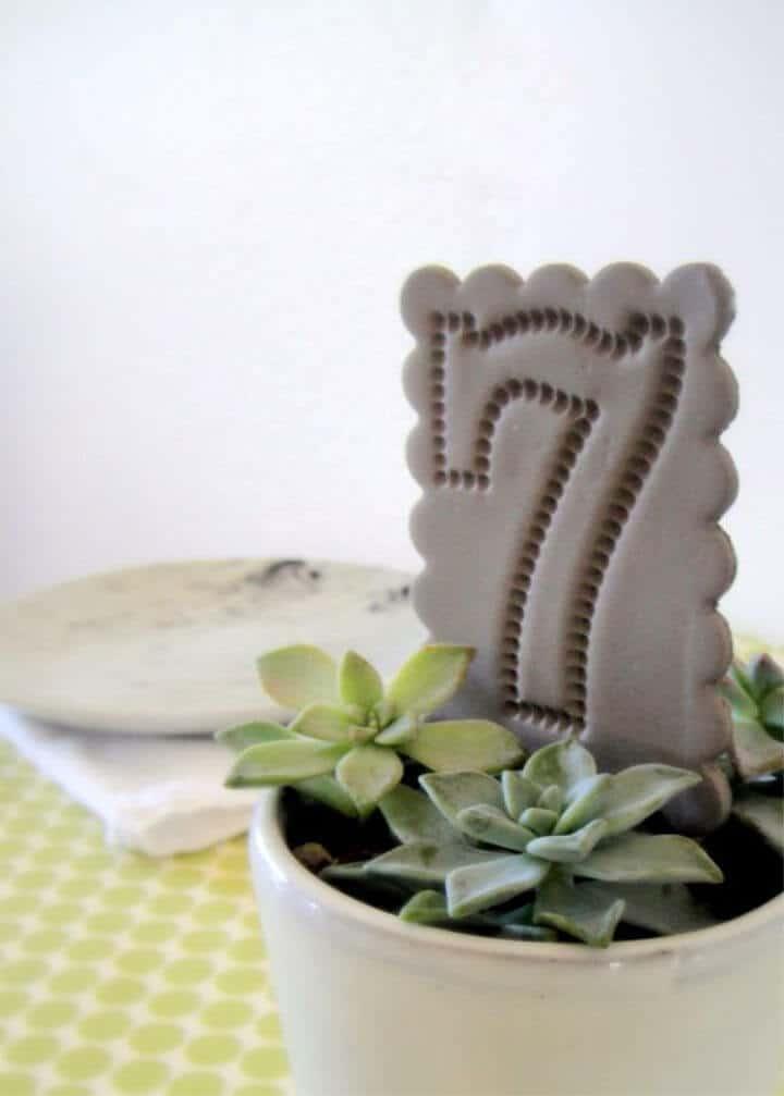 Números de mesa de arcilla de bricolaje