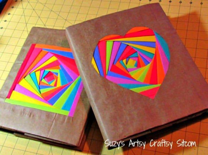 Cubiertas de libros de bricolaje coloridas para el regreso a la escuela