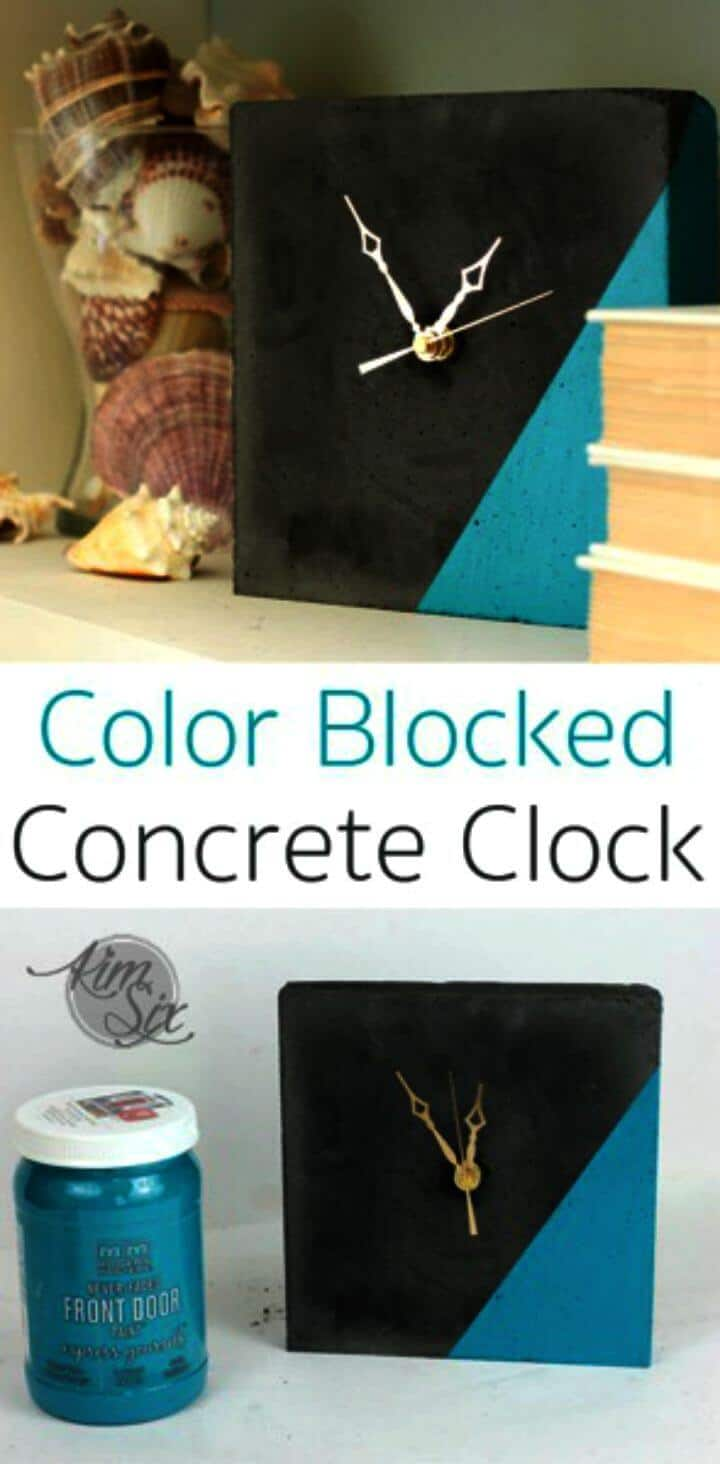 Reloj de hormigón de bricolaje con bloqueo de color
