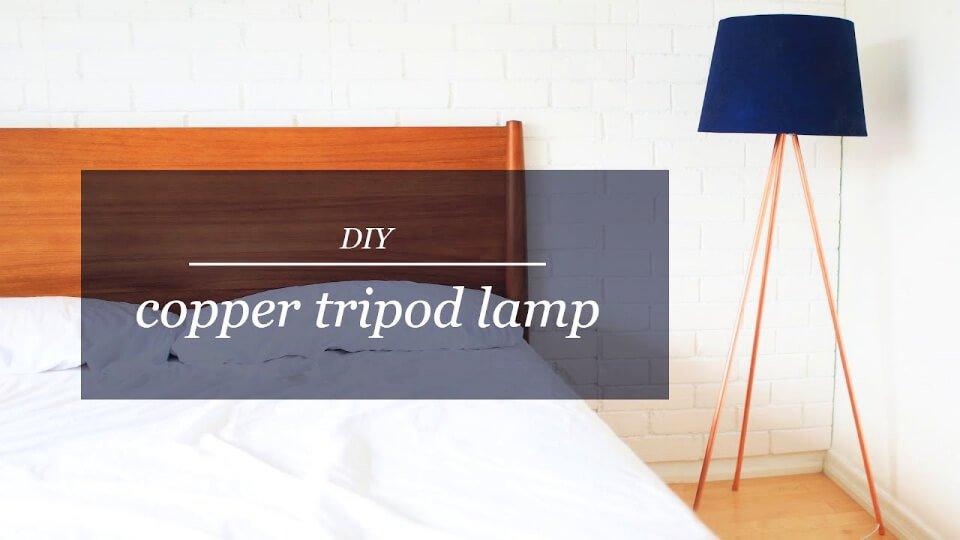 Lámpara trípode de cobre DIY