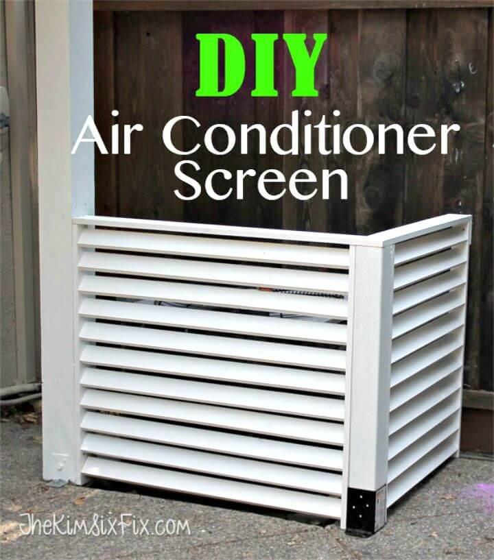 Bricolaje cubre tu aire acondicionado con una pantalla con persianas