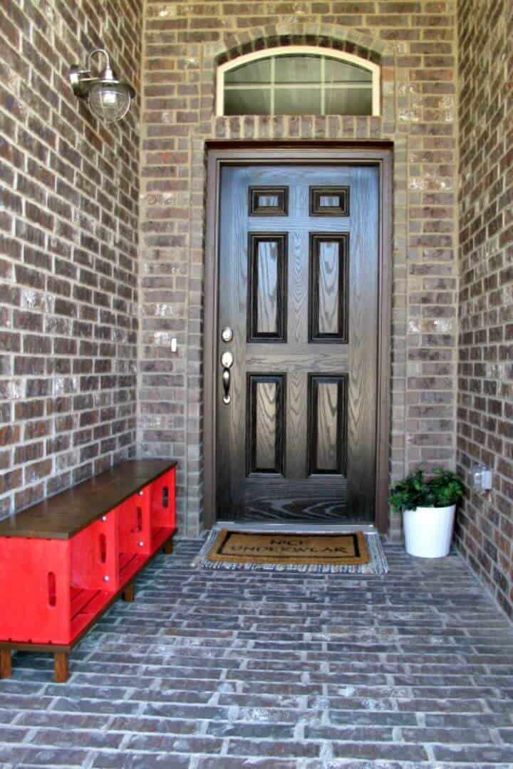 Tutorial de decoración de entrada de bricolaje con cajas