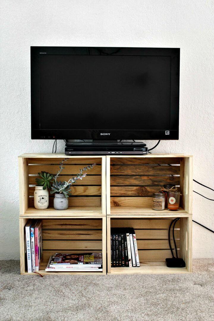 Tutorial de soporte de TV de caja de bricolaje súper fácil