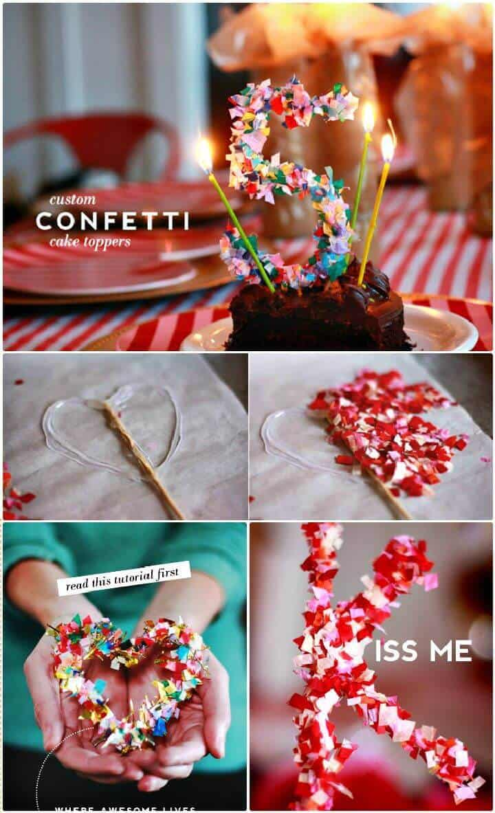 DIY Create Confetti Cake Topper