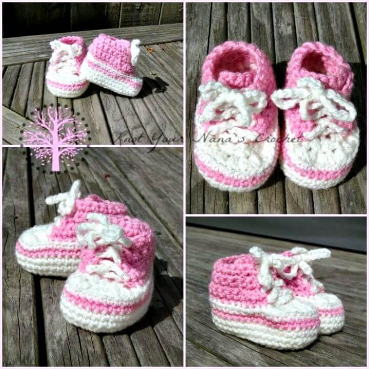 Converse Newborn High Tops fáciles de crochet - Patrón libre