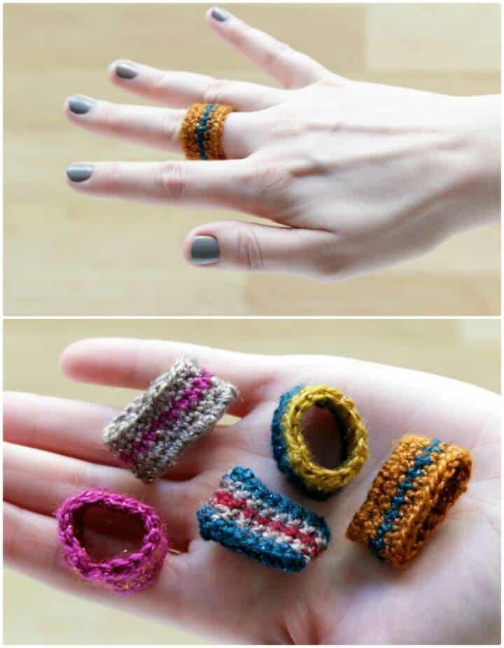 Patrón de anillo de ganchillo gratis fácil