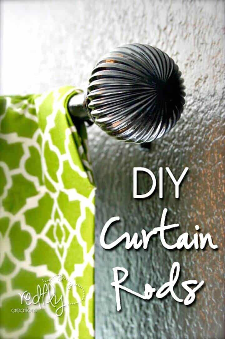 Barra de cortina de bricolaje fácil por menos de 5 dólares - Tutorial gratuito