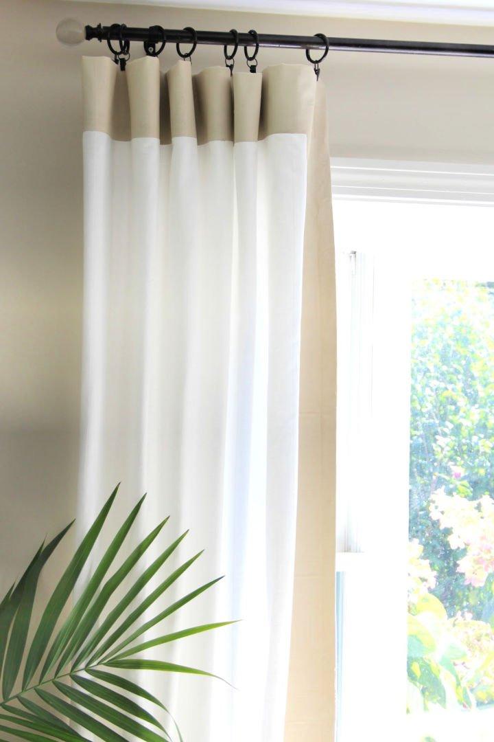 Barras de cortina de bricolaje