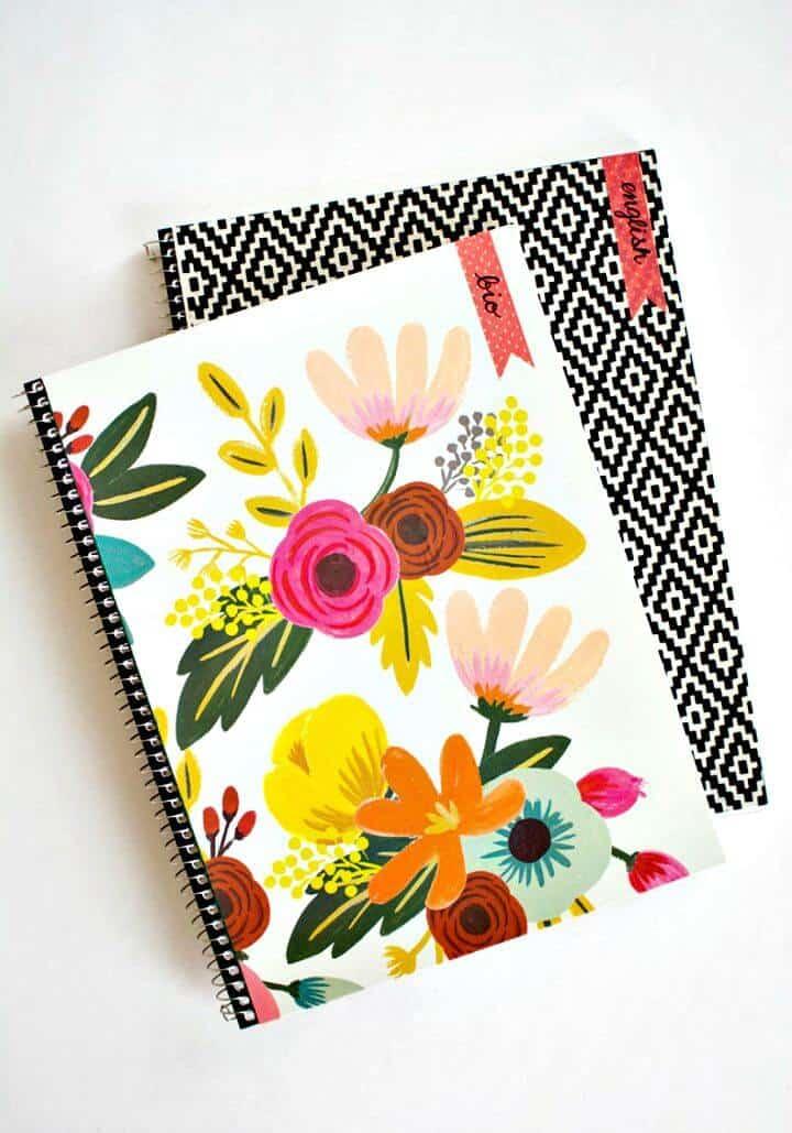 Cómo hacer una cubierta personalizable para cuadernos