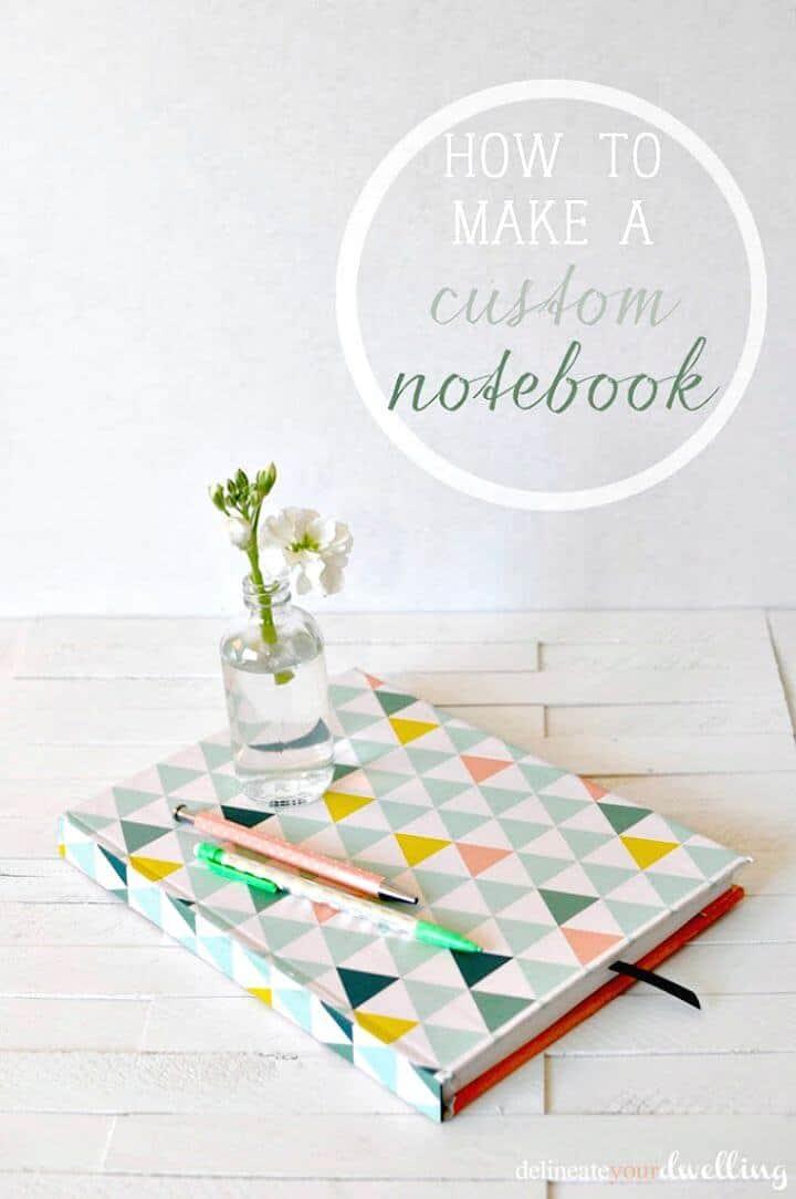 Manera fácil de hacer un cuaderno personalizado