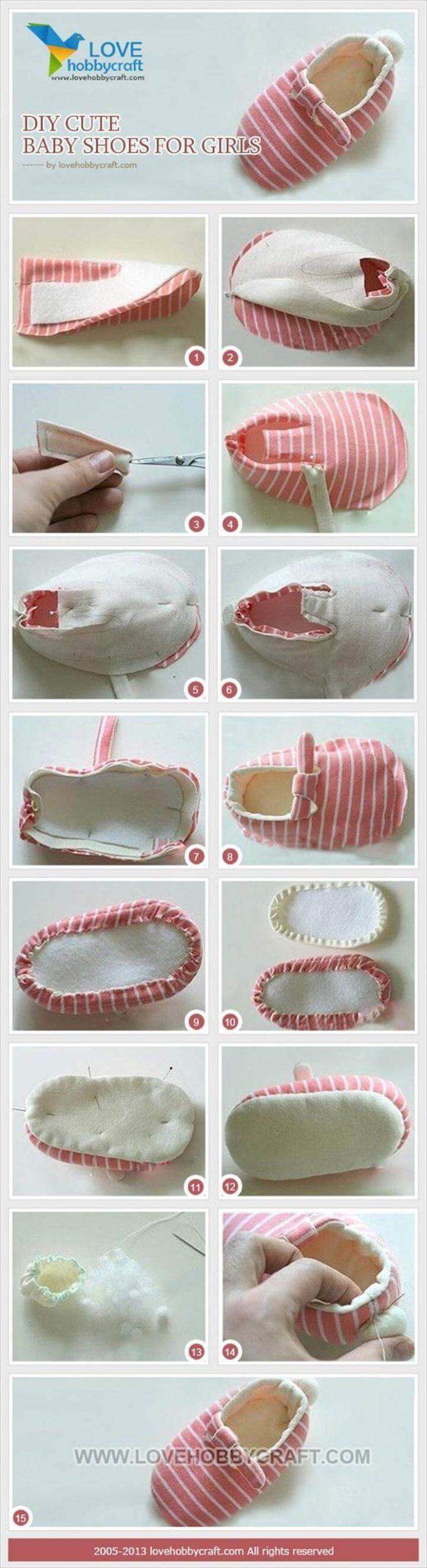 Tutorial de bricolaje lindo zapatos de bebé niñas