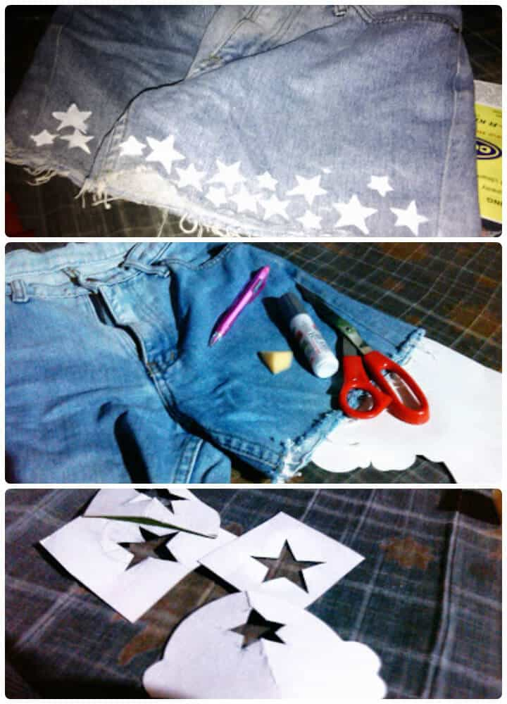 lindos pantalones cortos de verano estrellado