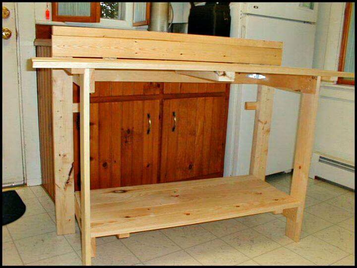 Tutorial fácil de cómo hacer bricolaje de mesa de trabajo plegable de Dave Flanagan