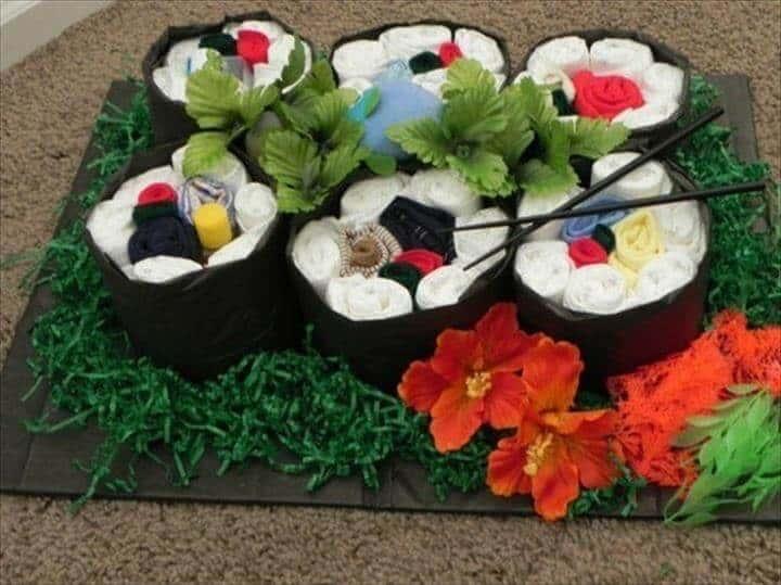 hermoso pañal sushi