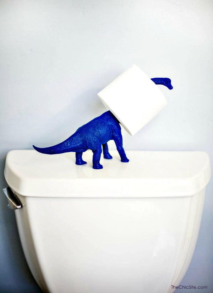 Soporte de papel higiénico de dinosaurio DIY