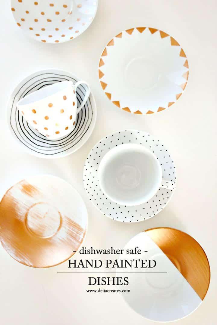 Platos pintados fáciles de hacer para el lavavajillas