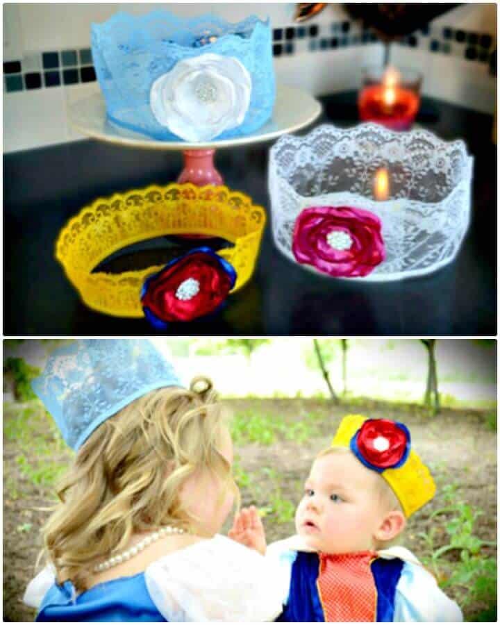 Adorables coronas de princesa de Disney DIY