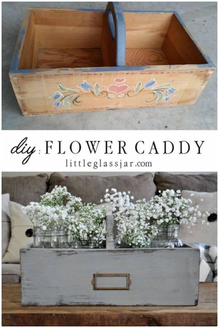 Carrito de flores DIY Dollar Store