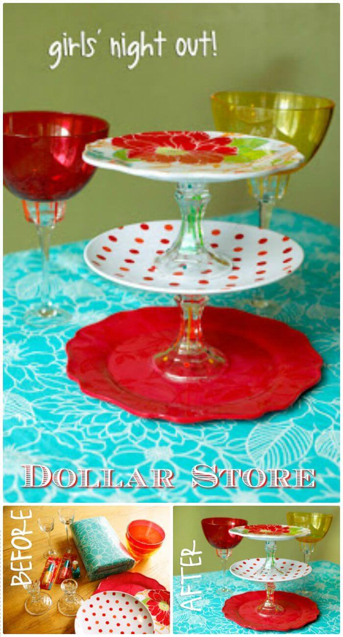 Cómo hacer un centro de mesa - Dollar Store Craft