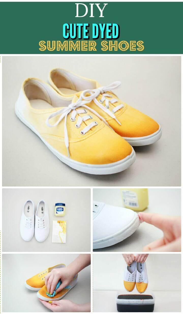 Zapatos teñidos de bricolaje
