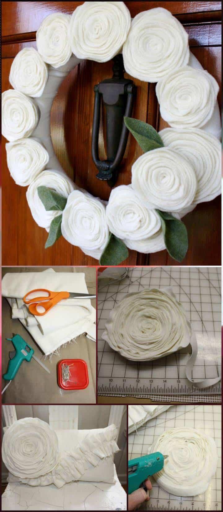 Tutorial de flores de fieltro de bricolaje