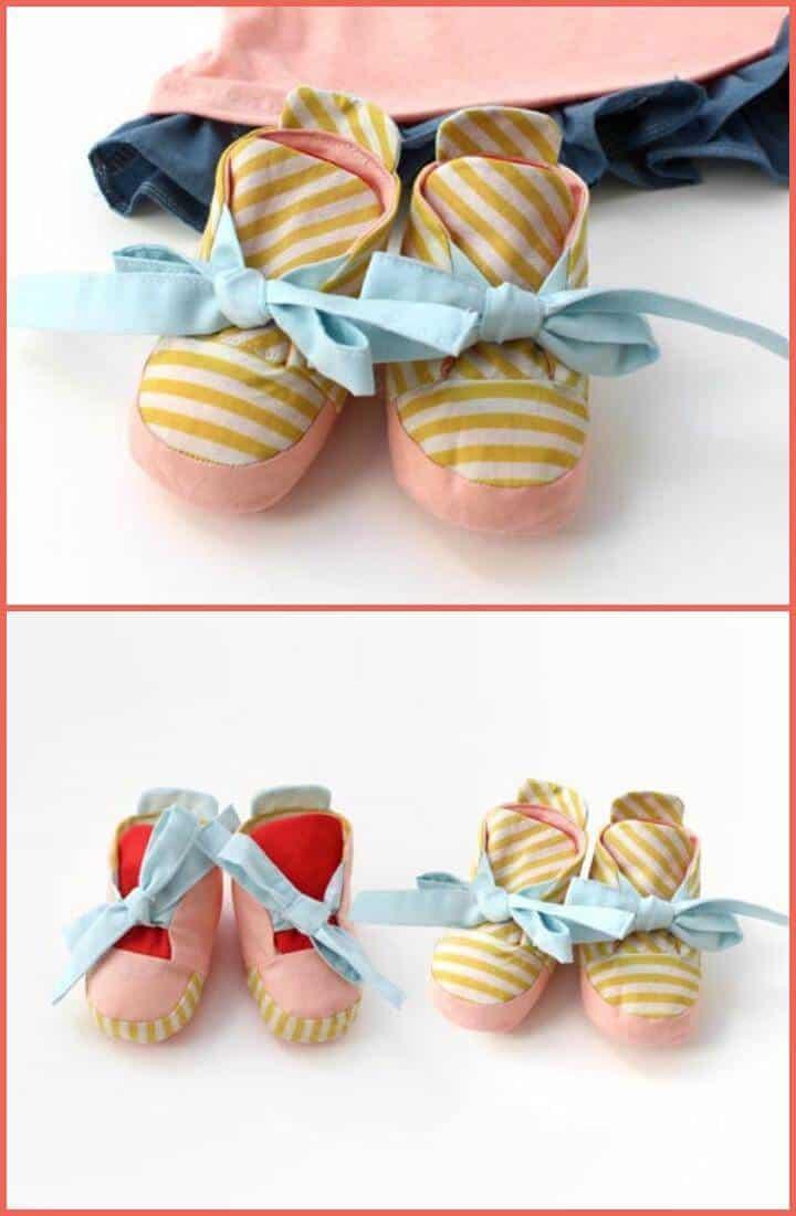 zapatos de bebé reversibles hechos a mano