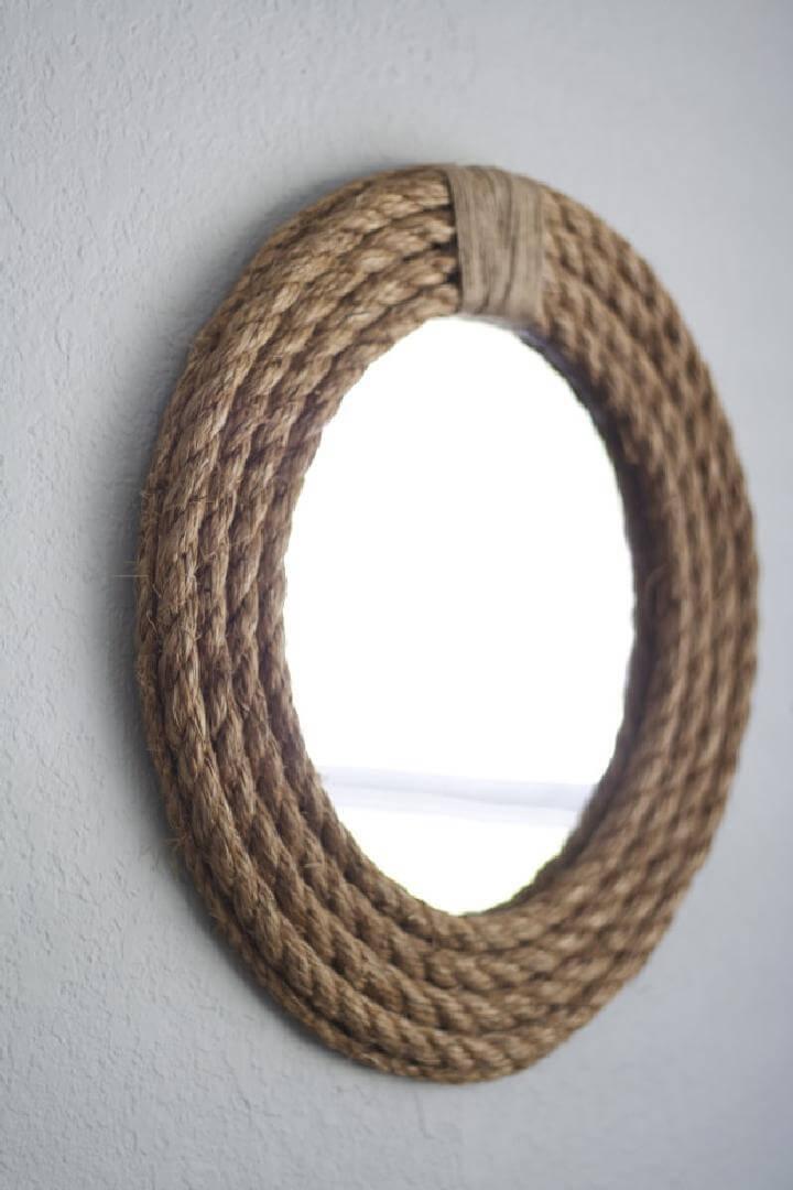 Espejo de cuerda fácil de bricolaje