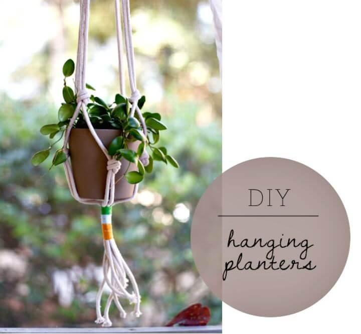 Jardineras colgantes de bricolaje fáciles y simples