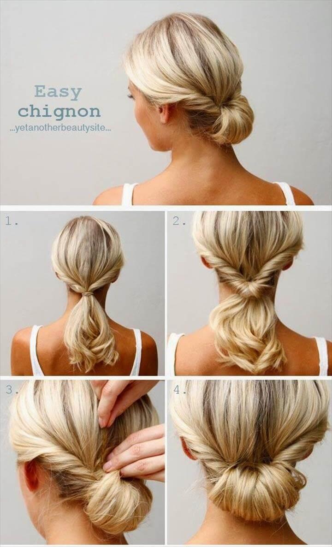 peinado trenza updo fácil