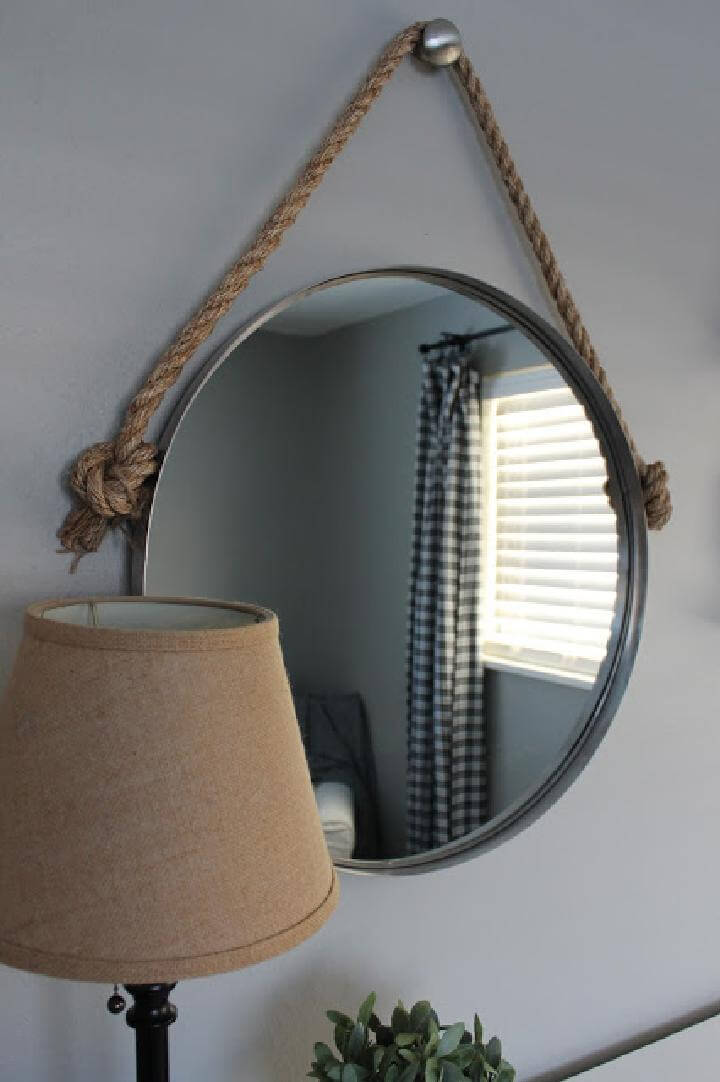 Espejo de cuerda elegante de bricolaje