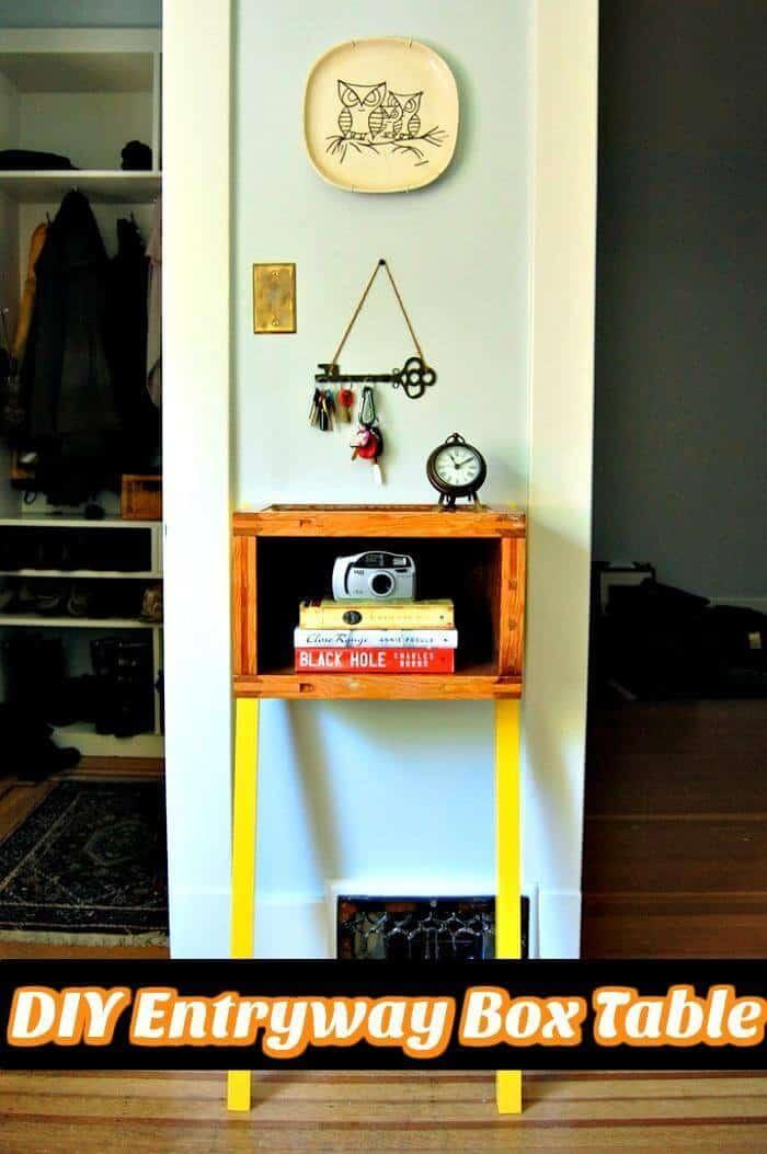 Mesa de caja de entrada de bricolaje
