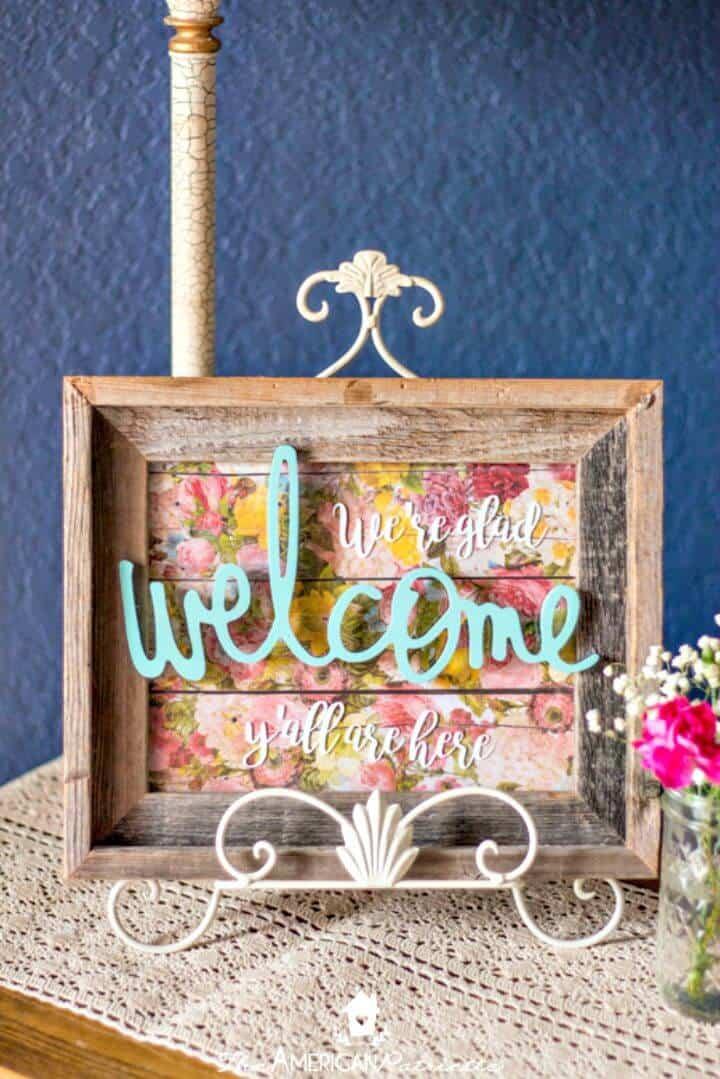 Cartel de bienvenida de bricolaje en la entrada para cada tutorial de vacaciones y temporadas