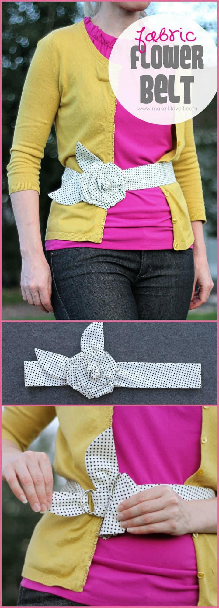 hermoso tutorial de cinturón de flores de tela