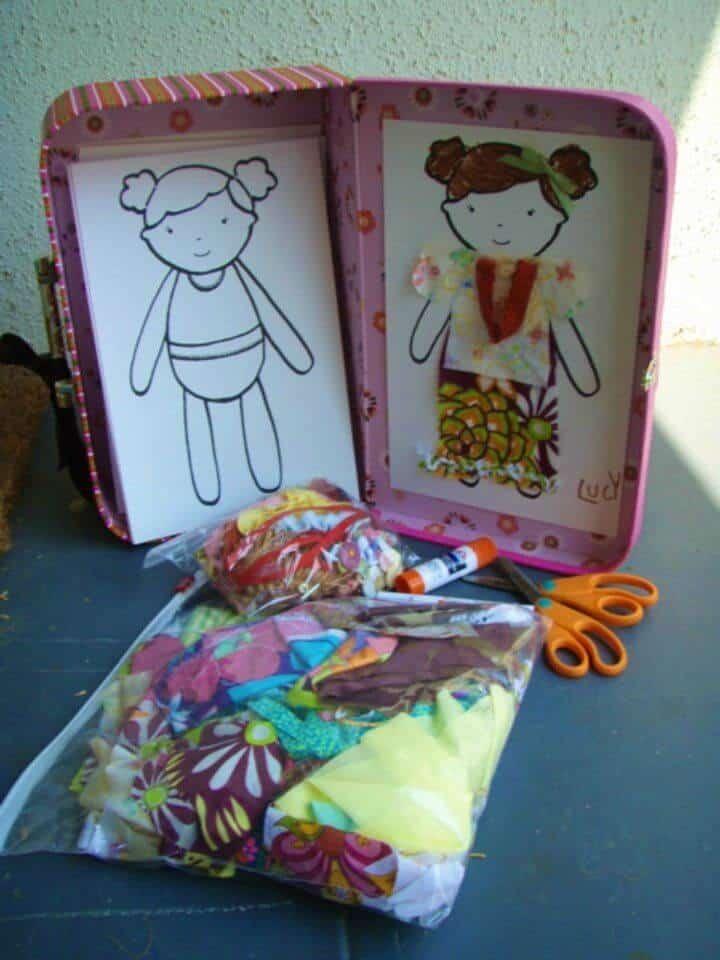 Kit de muñeca de papel de desecho de tela de bricolaje