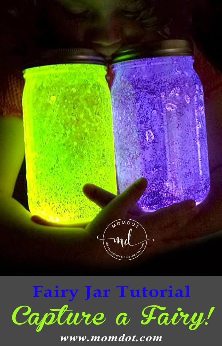 Tutorial rápido de DIY Fairy Mason Jar