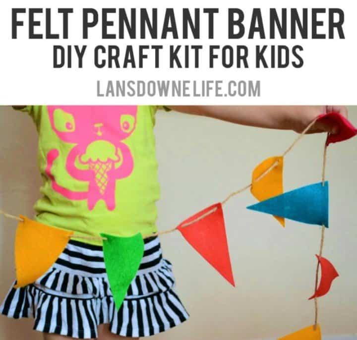 Kit de pancartas de fieltro para niños menores de 2 años