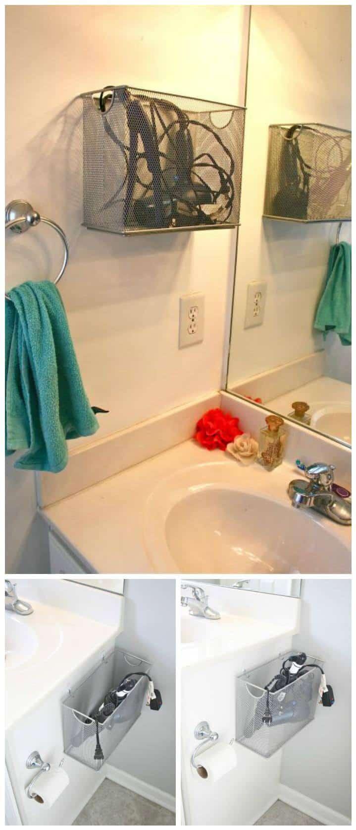 caja de archivos reutilizada almacenamiento de electrodomésticos de baño