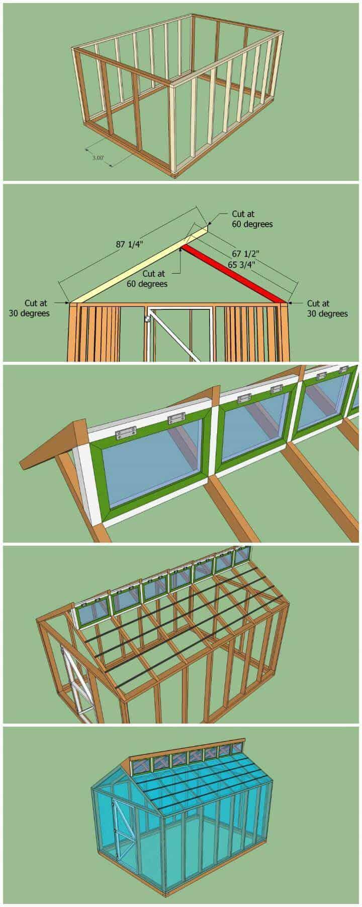 Planes gratuitos de bricolaje para un pequeño invernadero personalizado