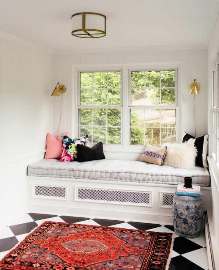 Colchón de sofá cama con mechones franceses DIY