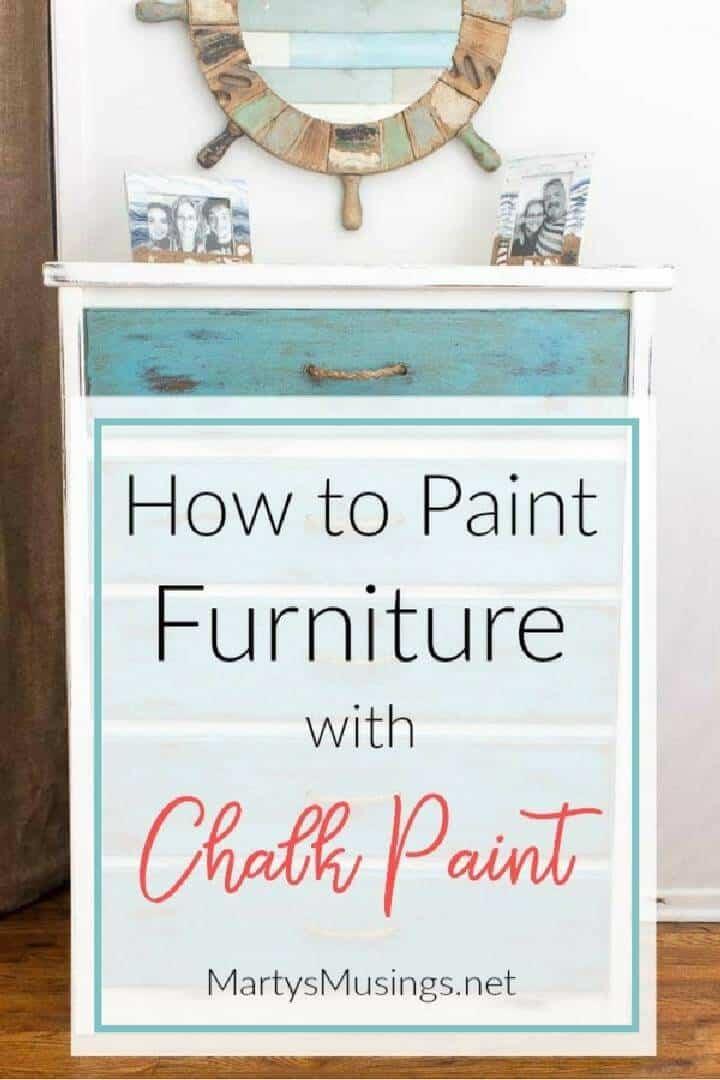 Tutorial de pintura de tiza para muebles de bricolaje